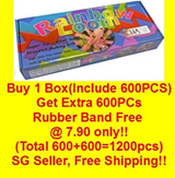 ★Buy 1 get extra 600pc rubber band free at7.90 only!Rainbow Loom Bracelet Making Kit / Refill Rubber Band -Free Shipping.