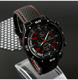 2015 Quartz Men Sports watch  Casual Watches Cycling F1 wristwatch Dropship Rubber Silicone Watch