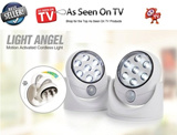 [Motion Sensor Portable Light]360degree adjustable Light Angel Motion Activated Sensor Simply Just Stick Up LED Light- As Seen On TV Cordless