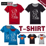YU111 Superman couple short sleeved T-shirt / summer / leisure cotton T-shirt / male half sleeve / half sleeve T-shirt /