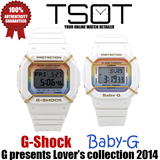 [100% AUTHENTIC with FREE Shipping] Casio LOV-14B-7 G PRESENTS LOVER'S COLLECTION 2014 G-Shock and Baby-G