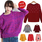 2015 NEW YEAR SPECIAL! Fashion Women Knit Wear Collection/Long Sleeve Knit Sweaters/Cardigans/Pullover/UK`  Korean Style/Ladies Clothes/Knit Tops/Buy 2 One Shipping Fee