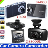 [SUPER TIME SALE]The Cheapest Car Camera 6 LED Light Car DVR Camcorder Car Driving Recorder IR Night Version Motion Detection Seamless Looping Wide Angle G-sensor F198 GS8000L K6000 C600 C400 I1000