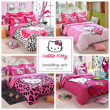 CNY BIG SALE! HELLO KITTY 4 Bed sheet Set - HELLOKITTY Includes Quilt Cover + Bedsheet Cover + Pillow Case /bedding/bedsheets/