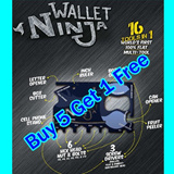 BUY 5 GET 1 FREE ★Wallet Ninja Multi-Tool Card RETAIL PACK Suitable for handphone ipad Samsung apple iphone xiaomi note Hongmi Galaxy S5 S4 S3 Note 2 3 LTE Tab Ace