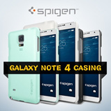 Spigen Samsung Galaxy Note 4 Case Note 4 Casing Thin Fit | Crystal Screen Protector (3 Pcs) *100% Authentic Spigen Product* *Made In Korea* etc