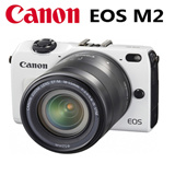 Canon EOS M2 with 18~55mm Lens + camera flash Set Camera Eos-1 Type (white) (Black) New