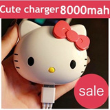 Portable Cute Cartoon Charger 8000mah 4300mah 9000mah with mirror charge power bank for Apple iphone / Christmas Gift / note3 / galaxy