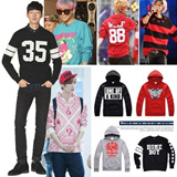 [buy 2 free shipping]Famous stars T-shirt/Long shirt/winter warm Long sleeve hoodies