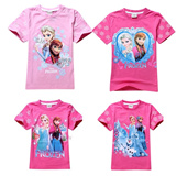U98The ultra low price popular T-shirts! ★ the snow queen T-shirt / printed T-shirts / Disney coat Frozen Elasa Anna / super popular role T-shirt shirt / Princess・Disney