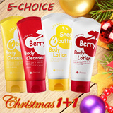 [Echoice] CHRISTMAS PACKAGE BODY CLEANSER + BODY LOTION 120 gr (BERRY AND SHEA BUTTER)