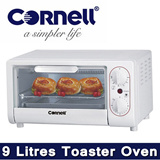 Lowest price in Singapore - Cornell 9 Litres Toaster Oven CTG 19. With easy adjustable temperature and 15 minute timer with auto shut-off and signal bell.