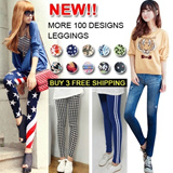 Spring ![buy 3 free shipping] Fashion lady Colorful Skinny Pants Leggings/plover/ Stars Stripes/ basic leggings/Pants/PU Bottoms pants/lace stretchy long jeans/