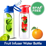 Portable Fruit Infuser Water Bottle/ Sports water bottle / BPA Free Fresh Fruit Infuser Green tea bottle Fruits water bottle Juicer Thermos cup Tumbler Citrus Zinger Sports Water Bottle
