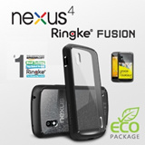 NEXUS 4 Ringke Fusion Premium Hybrid Hard Case - Black/ECO Package/Korean/FreeShipping