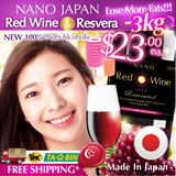 [MID-AUTUMN OFFER!! $2 CASH REBATE!!]★SLIMMING RED WINE!!★ 100% Non-alcoholic • Boosts blood circulation 2X • Enhances fats lost 3X!! • Health Drink for Everybody!!! Made in Japan. Certified HALAL