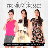 【FEB Update】 70% OFF/ New arrivals women's dress/ Premium quality girls' one-piece/Working or evening gown/skirts –S to XL