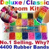 ★Loom Kit Deluxe / Classic / MonsterTail / Rubber Bands Refills / Charms / Rainbow Guide / Metal Hook★ Free Shipping