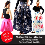 **HOT SELLING Ladies Skirt** Plus size Midi Skirt / Maxi Skirt / A-Line Skirt / Premium Quality / Fits S - XL