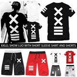 LL41 XXlll Japanese hip hop PYREX 23/HBA short sleeved T-shirt/short pants/