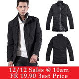 【26/9 Update】2014 PROMOTION!!!High Quality Euro Style Men Jacket / Winter Coat