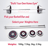 Barbell Bar Weights EZ Curl Tricep Gym Fitness Plate Dumbbell Chrome Sets Plate Cast Iron adjustable Home Exercise Equipment Workout Rubber Rubberised Bench Machine Bowflex 5kg 10kg 50kg 70kg