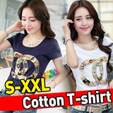 Women Slim cotton t-shirt★S-XXL size / Korean and Japanese Trend Fashion /Summer new Chiffon Tops/T-shirts/Casual Dress/Blouse/UNIQUE