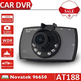 Top Quality Novatek 96650 Car DVR Recorder with FHD 1080P Car Camera 2.7 Screen 170 Degree Wide Angle + G-sensor Night vision 6 LED Camcorder AT188