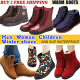 2015 Family Winter boots shoes / Women snow boots / Men boots shoes / Children boots shoes / England style boots / Sport shoes / Casual Shoes / Warm fur lining waterproof / Christmas gift
