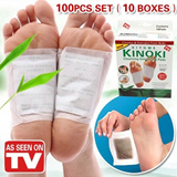 [As seen on TV] 100pcs for a set(10 BOXES) /KINOKI /Kinoki Detox Foot PadsFoot Pad Patch