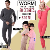 The Winter Thermal Wear Underwear Male Couple Ms. warm clothing plus thick velvet suit / M Ms. warm clothing