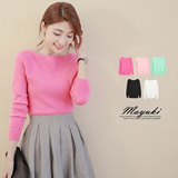 MAYUKI - Solid Color Knit Long Sleeve Top-4023925-Winter
