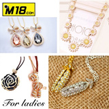【M18】 Diamond necklace/multi kinds to choose/bling bling creating luxury and noble atmosphere/say goodbye to simple and dull way to be the shiny queen/sweater suits