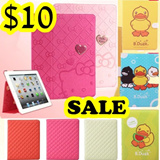Check pattern/CNY gift iPad Air/iPad 5 leather case iPad mini/iPhone5s stand 360 degree casing duck animals/cartoon/silicone case