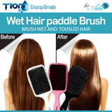 ★NEW★ Amazing WET HAIR paddle BRUSH / New-advanced PREMIUM BRUSH / Changing TOUSLED HAIR to SILKY HAIR / Pretty design Product Quality
