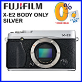 Fujifilm X-E2 16.3 MP Compact System Digital Camera with 3.0-Inch LCD - Body Only (Silver) Free ULTRA SD 8GB
