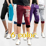 [buy 2 free shipping]Korea Style Men sports pants/Seven-pants/Causal sport pants/summer pants