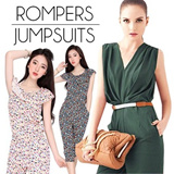 MM78 [Buy 2 Free Shipping] 2014 New Korean Style Fashion Jumpsuits Rompers Skirt Trousers Pants /V neck Jumpsuit/Tops/Sexy Jumpsuit