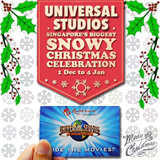 Universal Studio Singapore Ticket USS One day Pass / $5 Retail Voucher / Meal voucher 新加坡环球影城 / Express Pass /Christmas Celebration