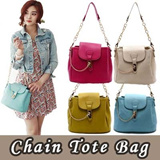 ★ today only★New Fashion Women Bow Chain Shoulder Handbag Messenger Tote Bag 8 colors with chain handle strap / Made in Korea