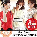 [★All Item 3+1 get free gift event★]2015 New arrival~★Best Selling High Quality Tee and Blouse/ Korean style High Quality Blouses shirt /Tops/Office Wear Blouses / Tops / Shirts /