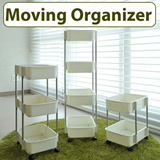 ★General Purpose Moving Organizer★diapers storage stand/ wheel movable / kitchen storage / multipurpose rack/ save space / movable shelf / standing organizer / convenient shelf / clean living room