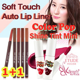 [1+1]Etude House Color POP Shine Tint mini+Soft Touch Auto Lip Liner
