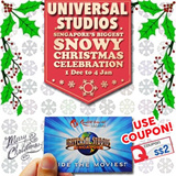 Universal Studio Singapore Ticket USS One day Pass  新加坡环球影城 / Christmas Celebration.Use your coupon to get the best deal!
