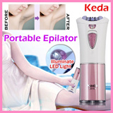 Keda Portable Epilator with LED Illuminating Light at $14.90 (Worth $76.40)