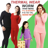 【Free Shipping】UPDATE 2015 GIFTS Winter Thermal Inner Wear(Thick)0 to -45 degree PANT+SHIRTS Leggings celsius/Couple Warm Clothing Innerwear Unisex Underw PLUS SIZE XL-6XL