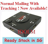 [Normal mailing with Tracking ] hdmi switch / Hub/ HDMI Spliter /3 Port HDMI 1080P Splitter For Video Selector Hub HDTV PS3 / HDMI 1
