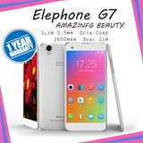 Elephone G7/Slim 5.5mm/Octa-Core/13MP+8MP/1+8GB/Finger Scan/2650mah/Dual Sim/1 Year Local Warrenty/External up to 64gb.