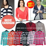 [Buy1Get1] Basic Premium Striped and Crop Cardigan_NEW Style added_Many COlors_Hig Quality_Knit Fashion / Basic Cardigan / Basic Tee / Casual Look / Office Look