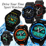 Waterproof sports watch dual display Korean mens fashion students multifunction LED outdoor military Skmei Digital Gift etc
